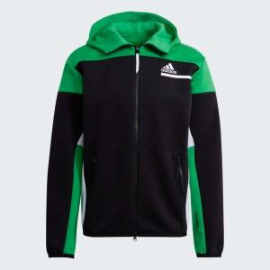 Chaqueta con capucha adidas Z.N.E. verde