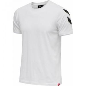 Camiseta Negra Hummel Legacy Chevron Blanca