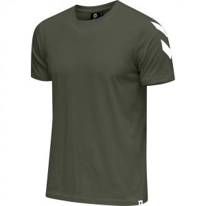 Camiseta Negra Hummel Legacy Chevron color Verde